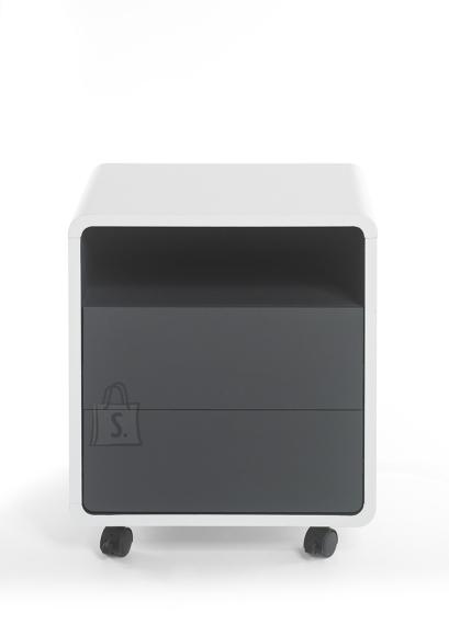 MCA Sahtliboks TADEO valge / antratsiit, 47x38xH55 cm
