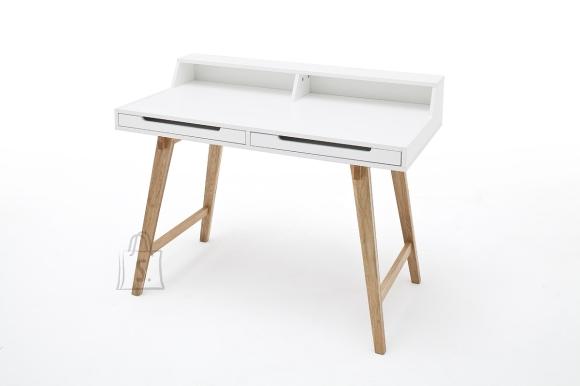 MCA Kirjutuslaud TIFFY valge / pöök, 110x58xH85 cm