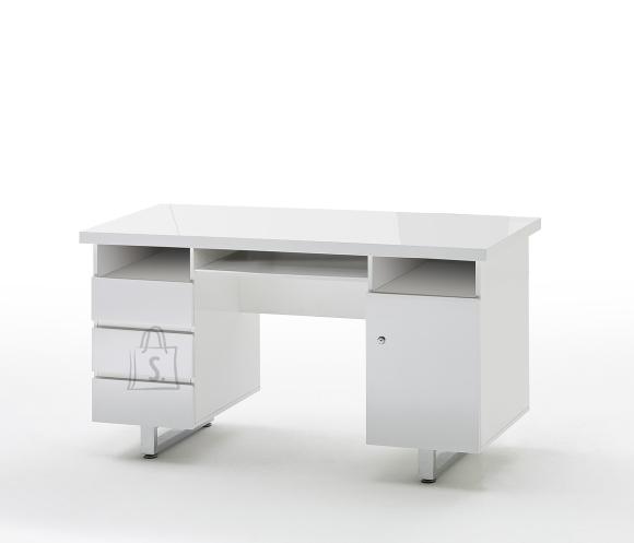 MCA Kirjutuslaud SYDNEY valge läige, 140x60xH76 cm
