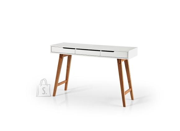 MCA Kirjutuslaud ANNEKE S valge / pöök, 120x40xH78 cm