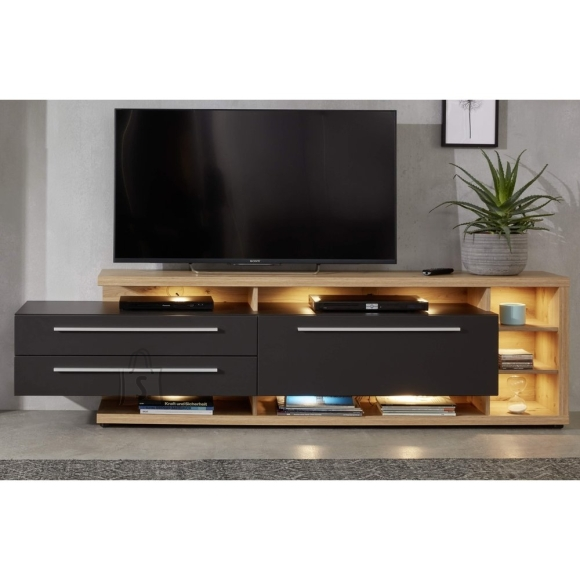 Trendteam TV-alus ODINO tamm / hall, 210x40xH62 cm LED