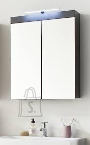 Trendteam Peegelkapp AMANDA hall läige, 60x17xH77 cm LED 34 cm