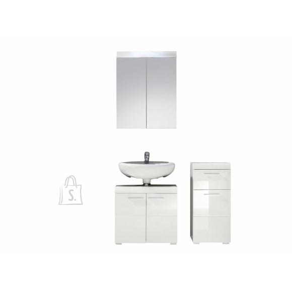 Trendteam Vannitoamööbli komplekt AMANDA valge kõrgläige / valge