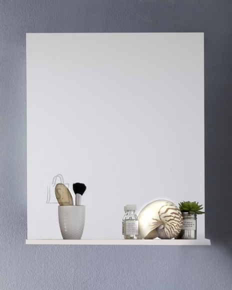 Trendteam Peegel riiuliga INTENSO valge läige, 60x16xH78 cm
