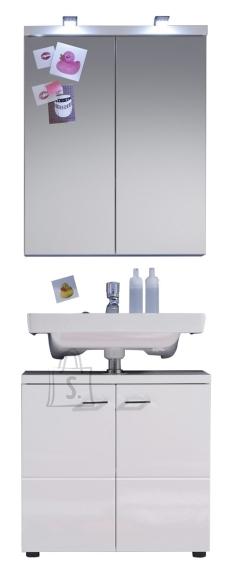 Trendteam Vannitoamööbli komplekt NIGHTLIFE valge kõrgläige, LED