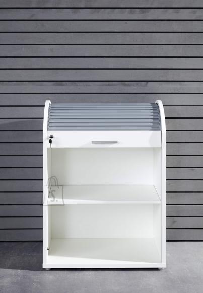 Trendteam Kontorikapp BASIX valge / hall, 70x40xH90 cm