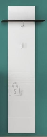 Trendteam Seinanagi SMART valge läige / hall, 60x25xH186 cm