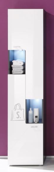 Trendteam Vannitoakapp TETIS valge / hall, 40x30xH182 cm LED
