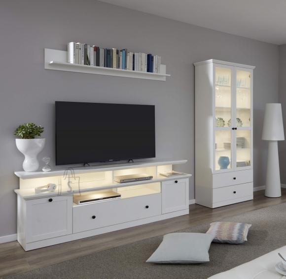 Trendteam Elutoamööbli komplekt BAXTER valge, 273x41xH196 cm LED