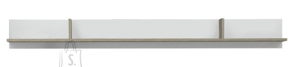 Trendteam Seinariiul CANARIA valge / tamm 204x21xH22 cm