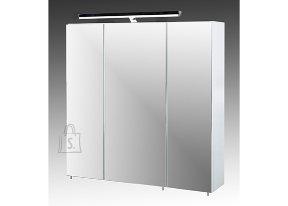 Schildmeyer Peegelkapp QUADRA valge, 70x16xH71 cm, LED