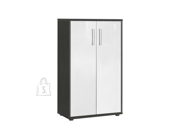 Schildmeyer Kontorikapp RIGA valge läige / antratsiit, 65x34xH111 cm