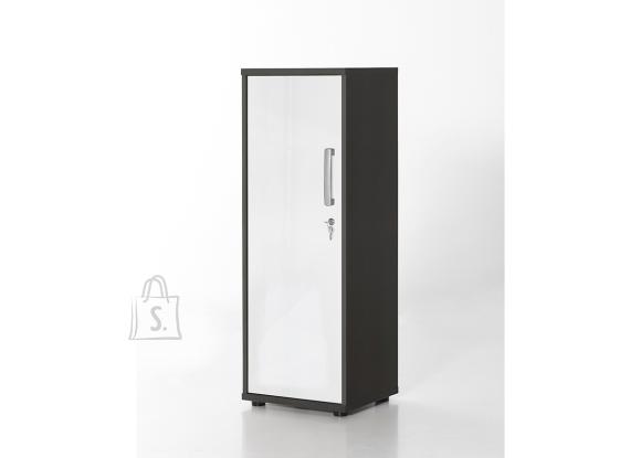 Schildmeyer Kontorikapp RIGA valge läige / antratsiit, 40x34xH111 cm