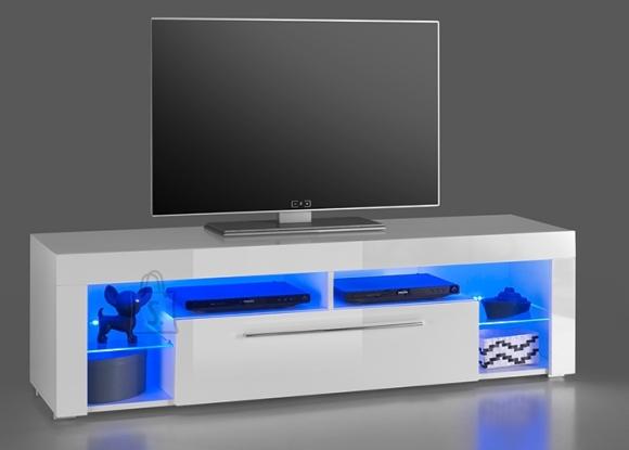 MCA Tv-alus GOL valge läige, 153x40xH44 cm, LED