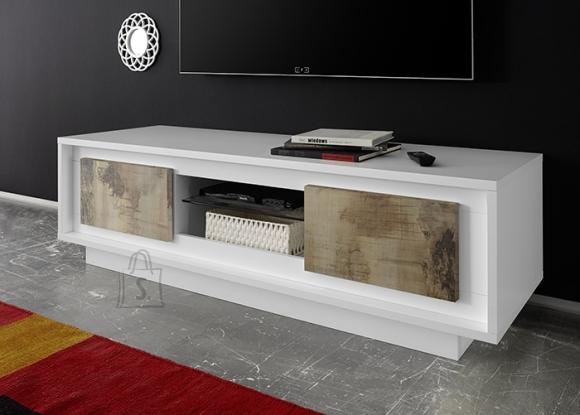 MCA Tv-alus SKY mattvalge / tamm Pero, 156x50xH45 cm