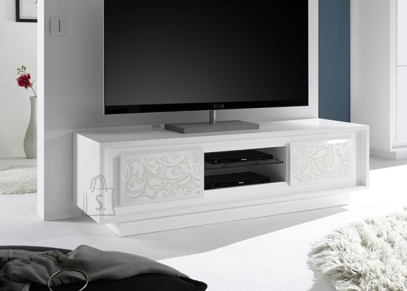 MCA Tv-alus SKY mattvalge / lillemotiivid, 156x50xH45 cm