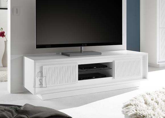 MCA Tv-alus SKY mattvalge / triibuline, 156x50xH45 cm