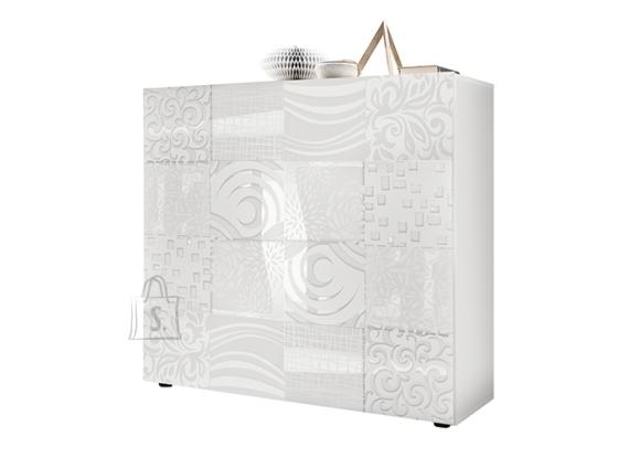 MCA Kummut MIRO valge läige, 121x43xH111 cm
