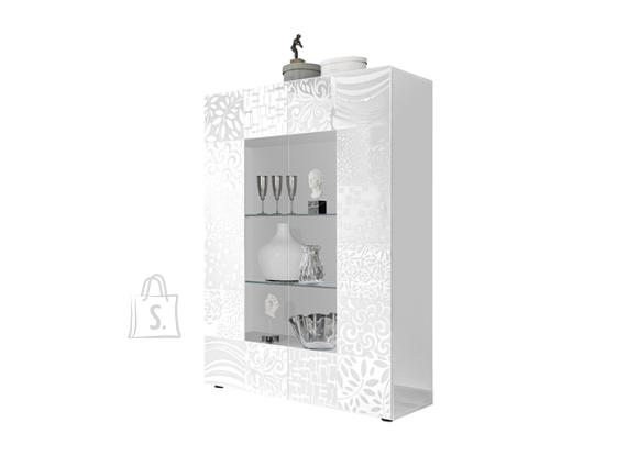 MCA Vitriinkapp MIRO valge läige, 121x43xH166 cm