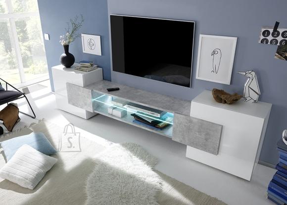 MCA Tv-alus INCASTRO valge / betoon, 258x37xH61 cm