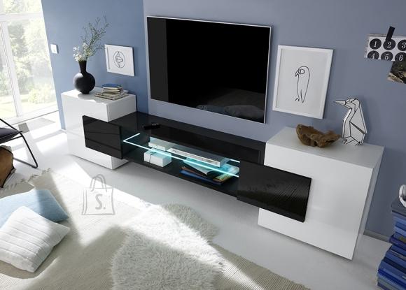 MCA Tv-alus INCASTRO valge / must, 258x37xH61 cm
