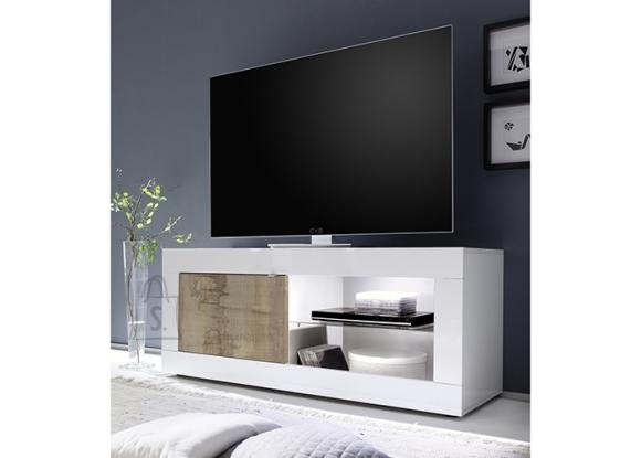 MCA Tv-alus BASIC valge läige / tamm Pero, 140x43xH56 cm