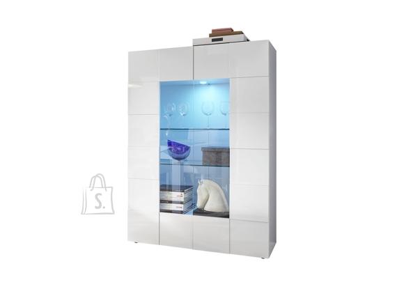 MCA Vitriinkapp DAMA valge läige, 121x43xH166 cm