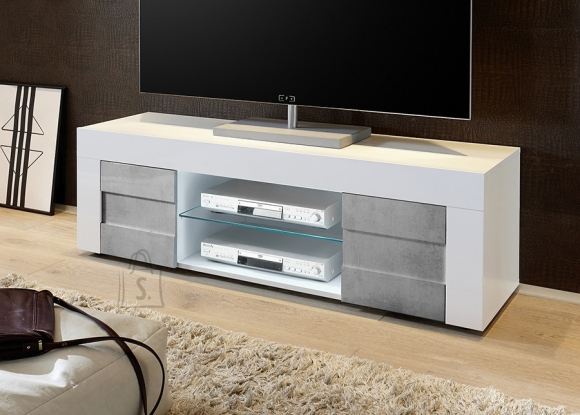 MCA Tv-alus EASY valge läige / betoon, 138x42xH44 cm