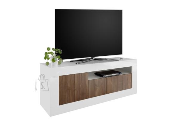 MCA Tv-alus URBINO valge läige / pähkel, 138x42xH56 cm, LED