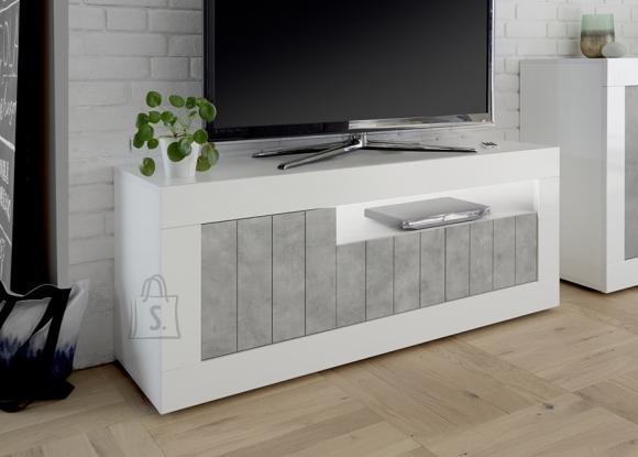 MCA Tv-alus URBINO valge läige / betoon, 138x42xH56 cm, LED
