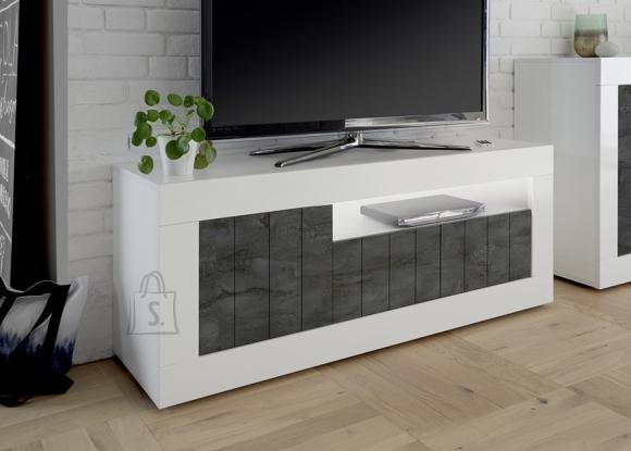 MCA Tv-alus URBINO valge läige / tumehall, 138x42xH56 cm, LED