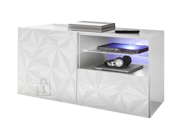 MCA Tv-alus PRISMA valge läige, 122x42xH57 cm, LED