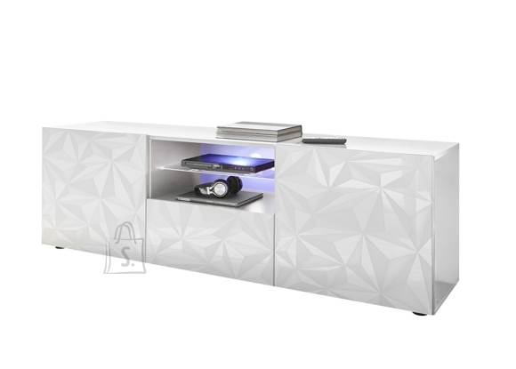 MCA Tv-alus PRISMA valge läige, 181x42xH57 cm, LED