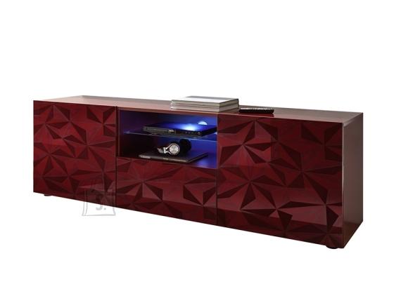 MCA Tv-alus PRISMA tumepunane läige, 181x42xH57 cm, LED