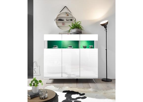 MCA Vitriinkapp GLAMOUR valge läige / roheline, 138x50xH127 cm, LED