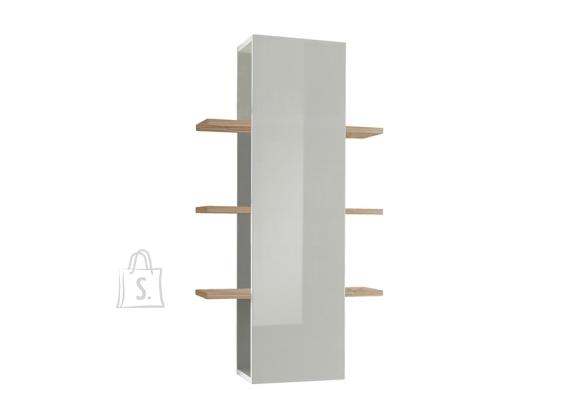 MCA Seinariiul INFINITY valge läige / hele pähkel, 61x36xH125 cm