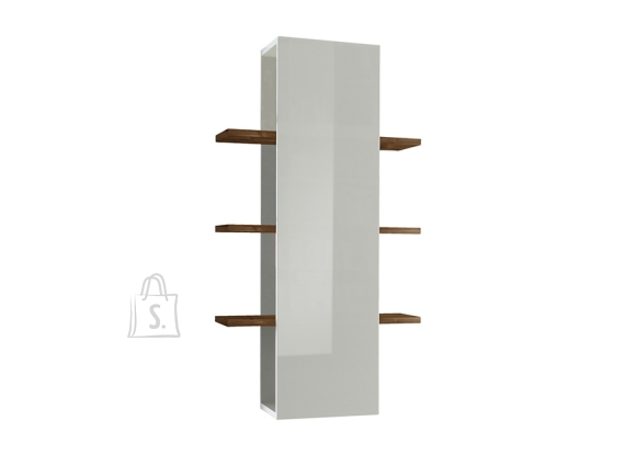 MCA Seinariiul INFINITY valge läige / tume pähkel, 61x36xH125 cm