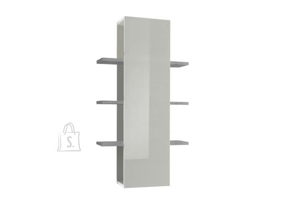 MCA Seinariiul INFINITY valge läige / betoon, 61x36xH125 cm