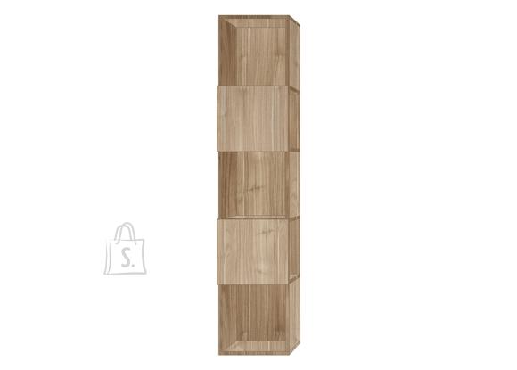 MCA Raamaturiiul INFINITY hele pähkel, 33x35xH158 cm