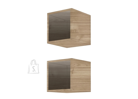 MCA Seinariiulid INFINITY hele pähkel, 28x30xH29 cm