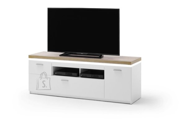 MCA Tv-alus CALI mattvalge / tamm, 156x44xH57 cm, LED