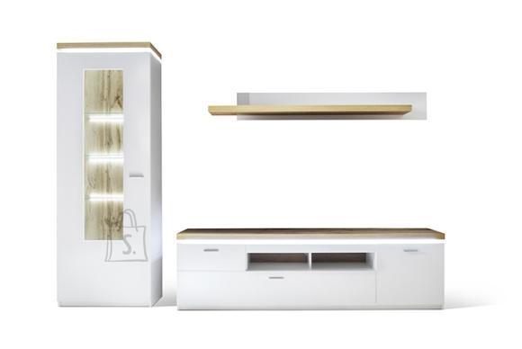 MCA Elutoamööbli komplekt CALI mattvalge / tamm, LED