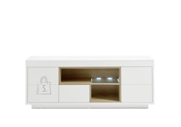 MCA Tv-alus KRONOS mattvalge / tamm, 169x40xH65 cm, LED
