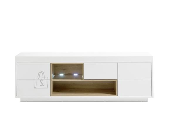 MCA Tv-alus KRONOS mattvalge / tamm, 193x40xH65 cm, LED