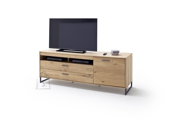 MCA Tv-alus PORTLAND tamm Bianco, 184x50xH67 cm