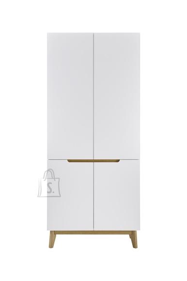MCA Esikukapp CERVO mattvalge / tamm, 85x40xH196 cm