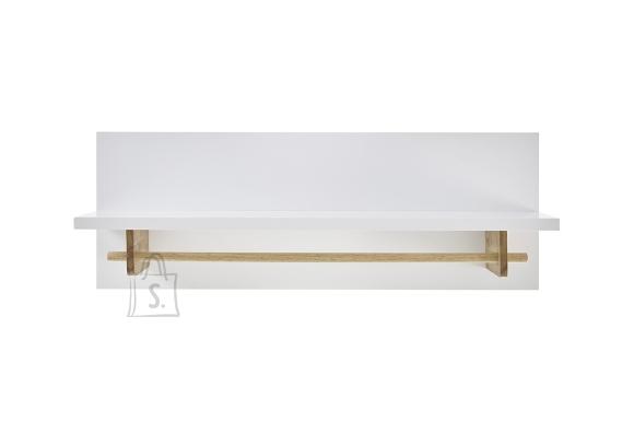 MCA Seinariiul CERVO mattvalge / tamm, 97x32xH35 cm