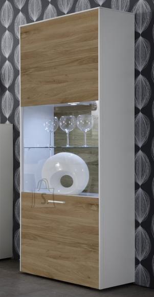 Mäusbacher Möbelfabrik Vitriinkapp ARIZONA valge / metsik tamm, 60x42xH189 cm