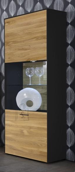 Mäusbacher Möbelfabrik Vitriinkapp ARIZONA antratsiit / metsik tamm, 60x42xH189 cm