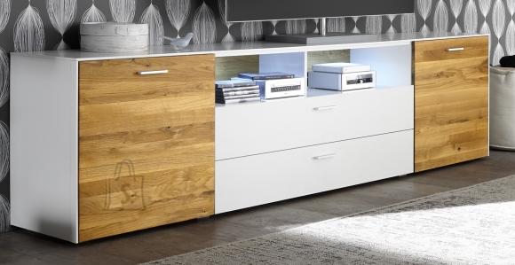 Mäusbacher Möbelfabrik Tv-alus ARIZONA valge / metsik tamm, 235x42xH64 cm